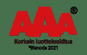 AAA – Korkein luottoluokitus © Bisnode 2021